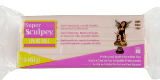 Super Sculpey Living Doll Clay, 1 lb Light Beige ZSLD-3