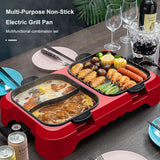 Multi-Purpose Non-Stick Electric Grill Pan