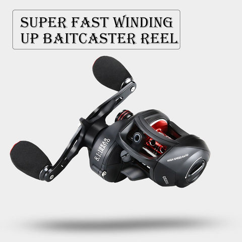 Super Fast Winding Up Baitcaster Reel
