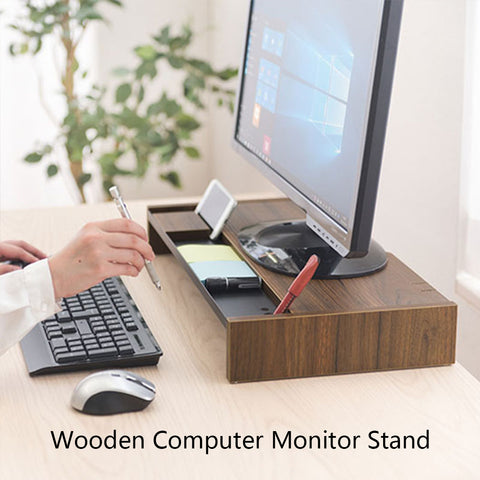 Wooden Computer Stand