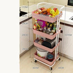 Multi Layer Storage Trolley Rack