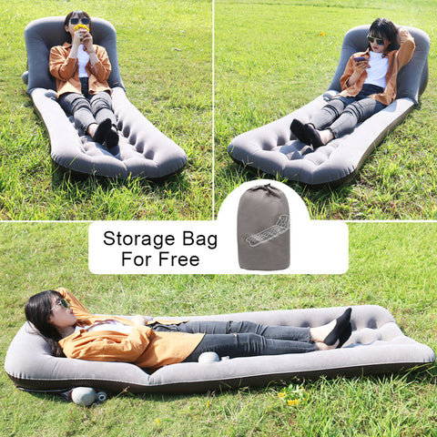 Dual-Use Inflatable Lounger