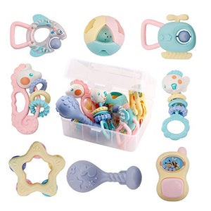 baby rattle teether toy set - Litte Zoe Boutique