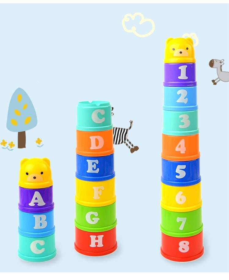 Baby Nesting Stack Cups Stack-Up Blocks - Litte Zoe Boutique
