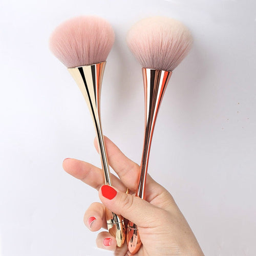 Large Rose Gold Foundation Powder Blush Brush - Litte Zoe Boutique