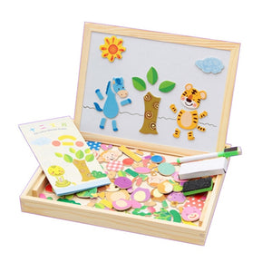 Magnetic Easel Double Side Dry Erase Board Puzzles Box - Litte Zoe Boutique