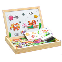 Load image into Gallery viewer, Magnetic Easel Double Side Dry Erase Board Puzzles Box - Litte Zoe Boutique