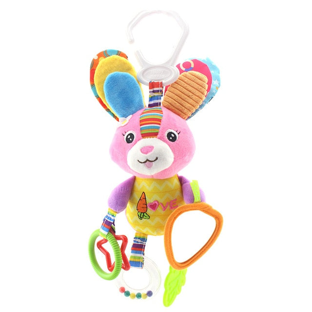 Hanging Plush Rattle Toy - Litte Zoe Boutique