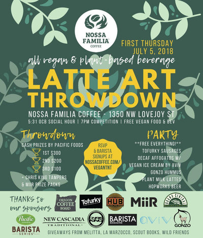 All-Vegan & Plant-Based Beverage Latte Art Throwdown
