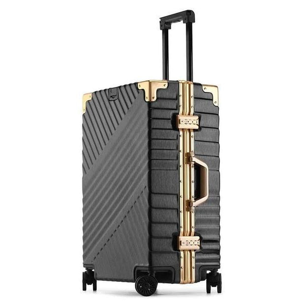 100% Aluminum Frame Luggage - black / 20 - luggage