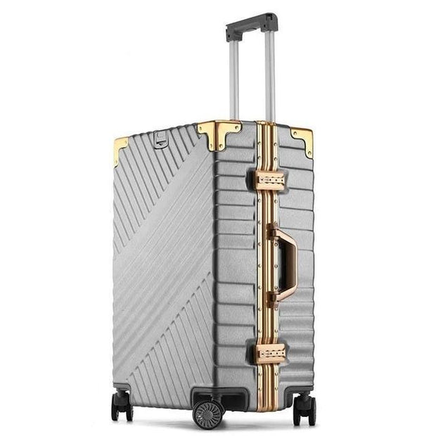 100% Aluminum Frame Luggage - gray / 20 - luggage