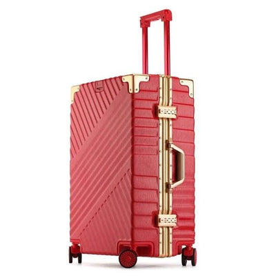 100% Aluminum Frame Luggage - red / 20 - luggage