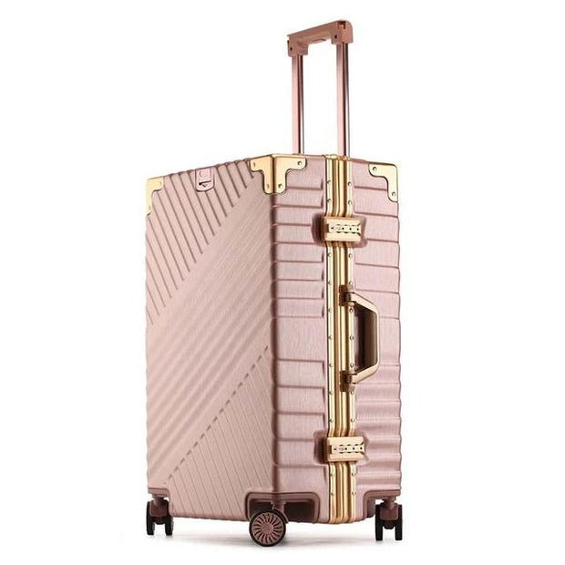 100% Aluminum Frame Luggage - rose gold / 26 - luggage