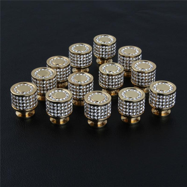 24K Gold Plated Crystal Knobs-Packages of 2-20 Pieces - door