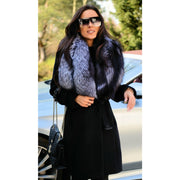 Carla - Wool Coat with Fox Fur Trim