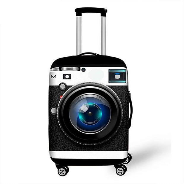 3D Black Camera Luggage Cover - 04 Luggage cover / XL -