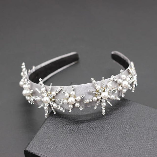 3D Pearls Headband - 4 - Hair Jewelry