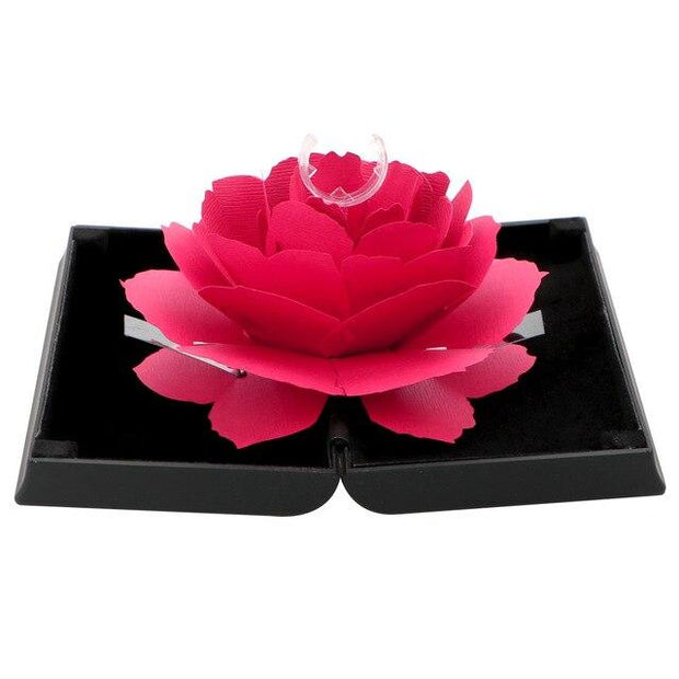 3D Rotating Jewelry Box - Black - Ring Box