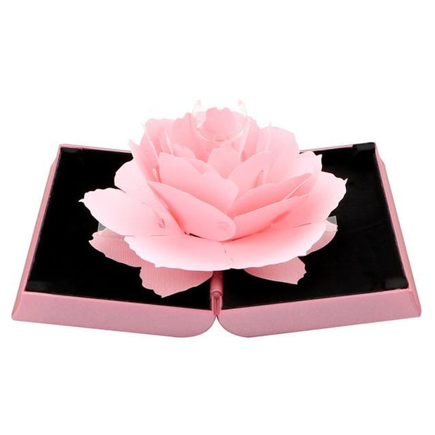 3D Rotating Jewelry Box - Pink - Ring Box