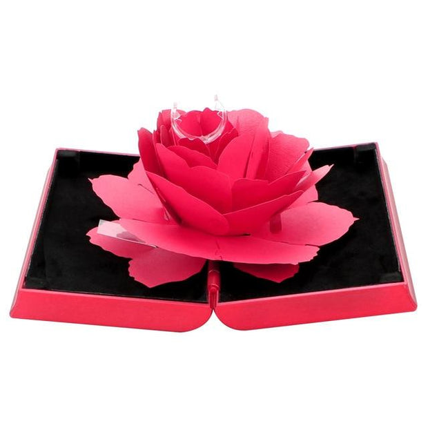 3D Rotating Jewelry Box - Red - Ring Box