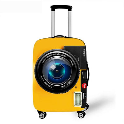 3D Yellow Camera Luggage Cover - 01 Luggage cover / XL -
