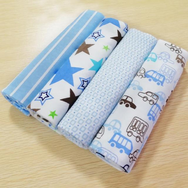4pcs/pack 100% cotton supersoft flannel Baby blanket - baby