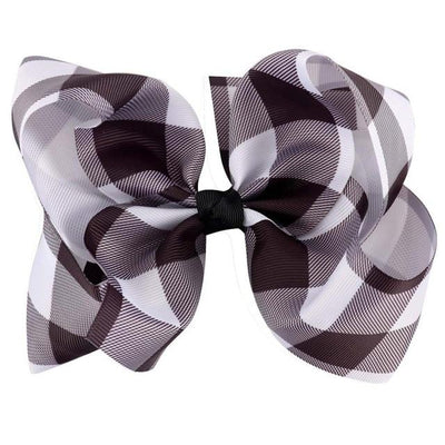 6 Gingham Hair Bow - Girls Hair Bow