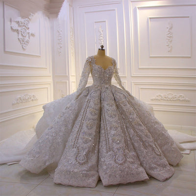 ALANA ROSE - Crystal 3D Flower Royal Wedding Dress
