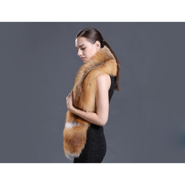 Victoria Fox Fur Scarf with Pockets