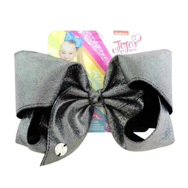 8 Large Jojo Metallic Bow - Girls Hair bows