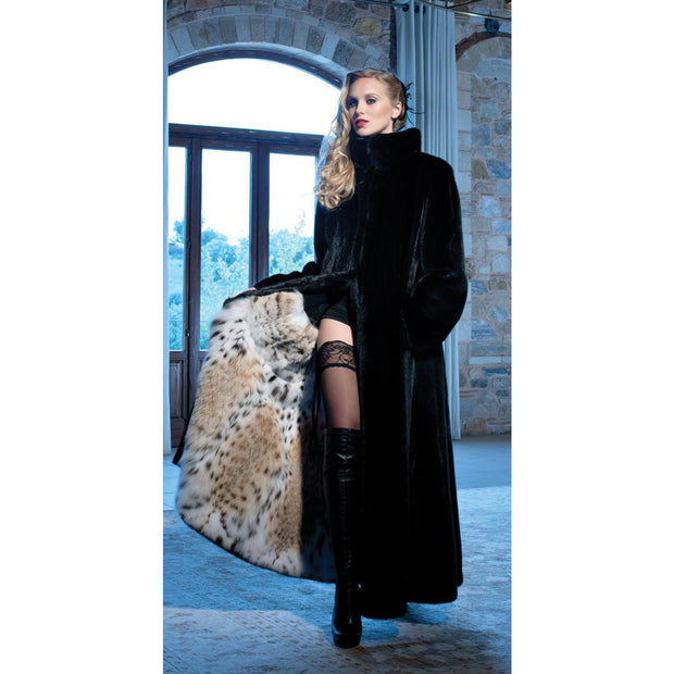 Roxanna - Mink Fur Coat with Lynx Fur Lining