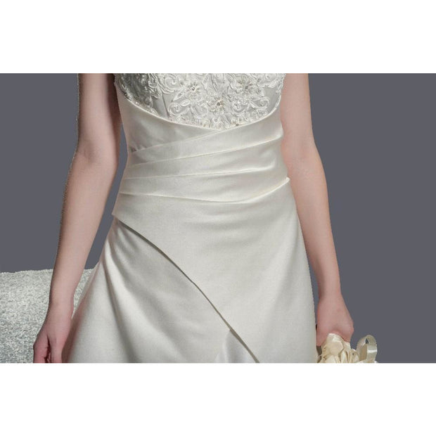 HARMONIE - Cathedral Train Satin Wedding Dress