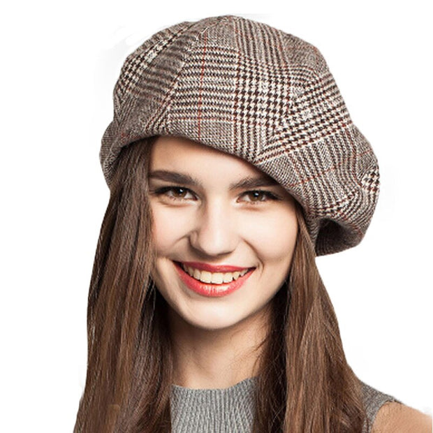 Plaid French Beret - THE BENJAMIN ORGANIZATION