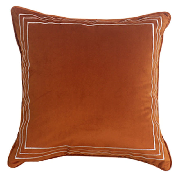 Orlando Orange Velvet Pillow Cover