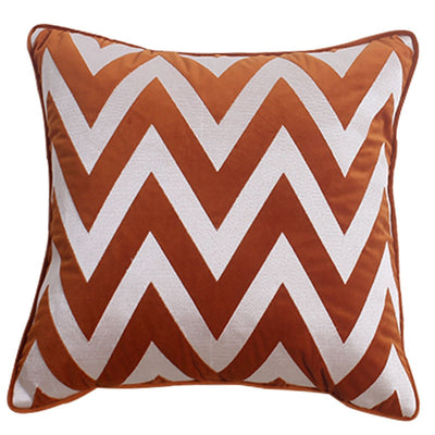 Vivian Orange Velvet Pillow Cover