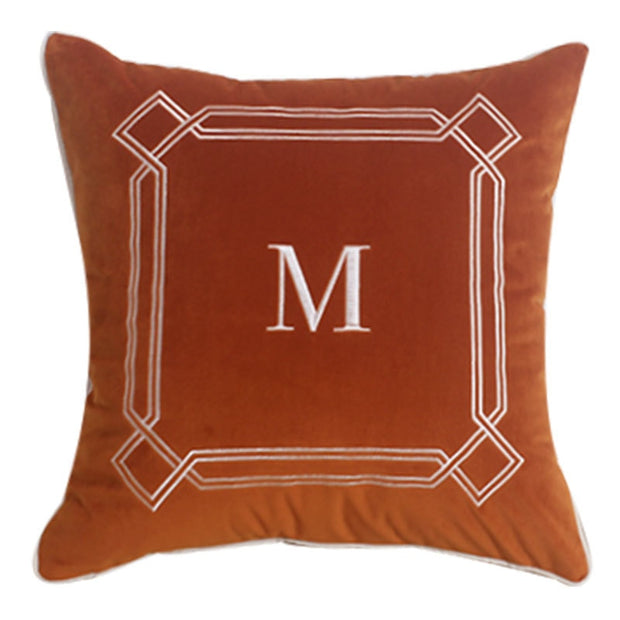 Miranda Orange Velvet Pillow Cover
