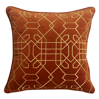 Michael Orange Velvet Pillow Cover