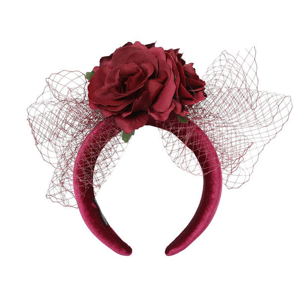 Padded Headband with Flower Headpiece - THE BENJAMIN ORGANIZATION