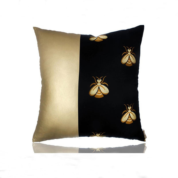 Luxury Bee Gold Pillow Cover