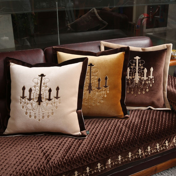 Crystal Chandelier Pillow Cover