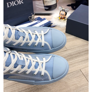 B23 DIOR AND DANIEL ARSHAM High-Top Sneaker in Light Blue Dior Oblique