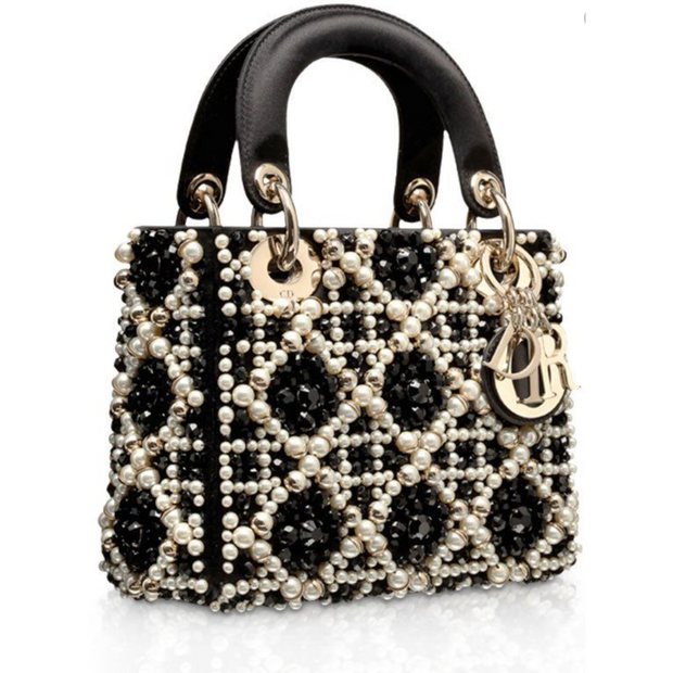 MINI LADY DIOR BAG pearls