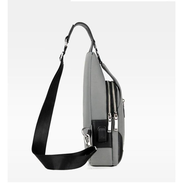 Academy Crossbody Black Bag - Men's Sling Bags
