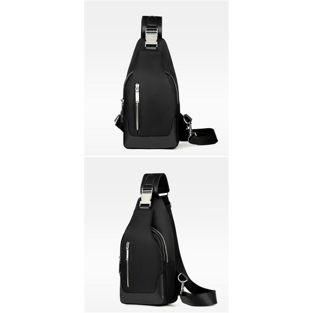 Academy Crossbody Black Bag Set - Men's Sling Bags
