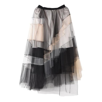 ALAURA - Mesh Multi Color Skirt - as shown / M - women's