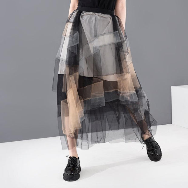 ALAURA - Mesh Multi Color Skirt - women's clothing