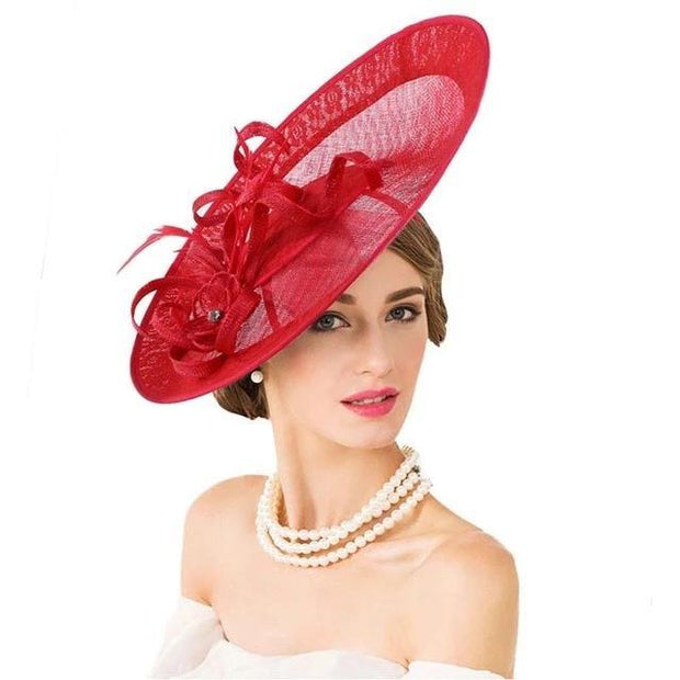 Amanda - Red - Millinery