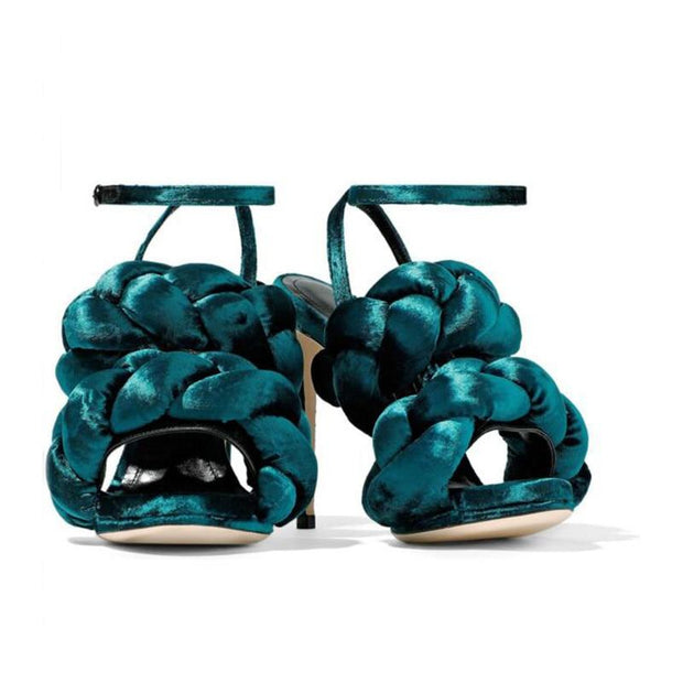 Anathalie - Velvet Braid Sandals - women's Shoes