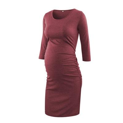 ANGEL - Maternity Bodycon Dress - pic / L - women's clothing