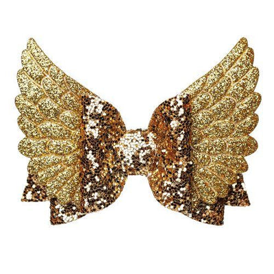Angel Wings Hair Bow - girls hair accessories